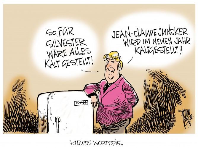 Merkel und Juncker: Alte Liebe rostet auch.Merkel will angeblich verhindern das Jean-Claude Juncker einen EU-Spitzenposten erhält.