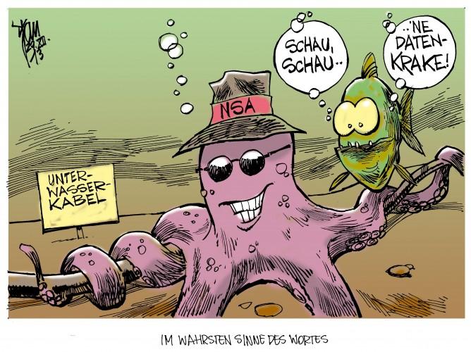 NSA spioniert Unterwasserkabel aus: Der US-Geheimdienst spioniert das Unterwasserkabel zwischen Europa,Nordafrika und Asien aus.