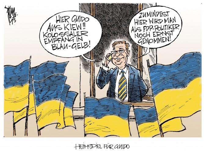 OSZE in Kiew: Außenminister Westerwelle, FDP, fliegt nach Kiew