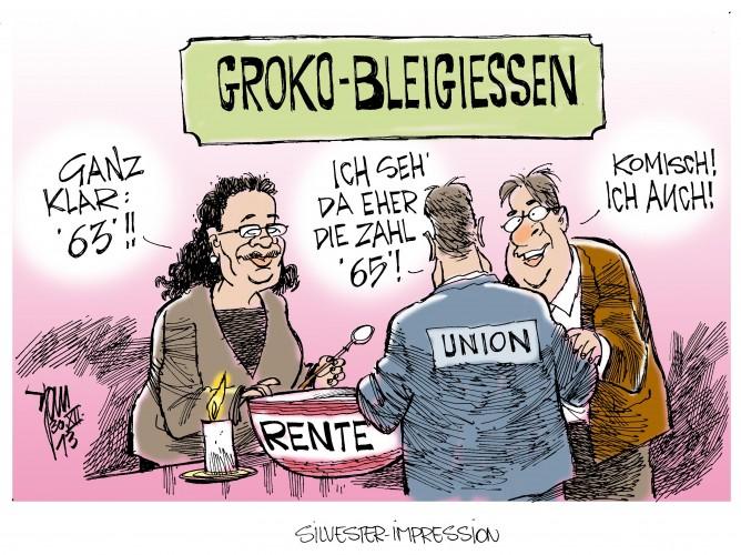 Rente mit 63: Andrea Nahles, SPD, hat Probleme die Rente mit 63 und 45 Beitragsjahren durchzusetzen.