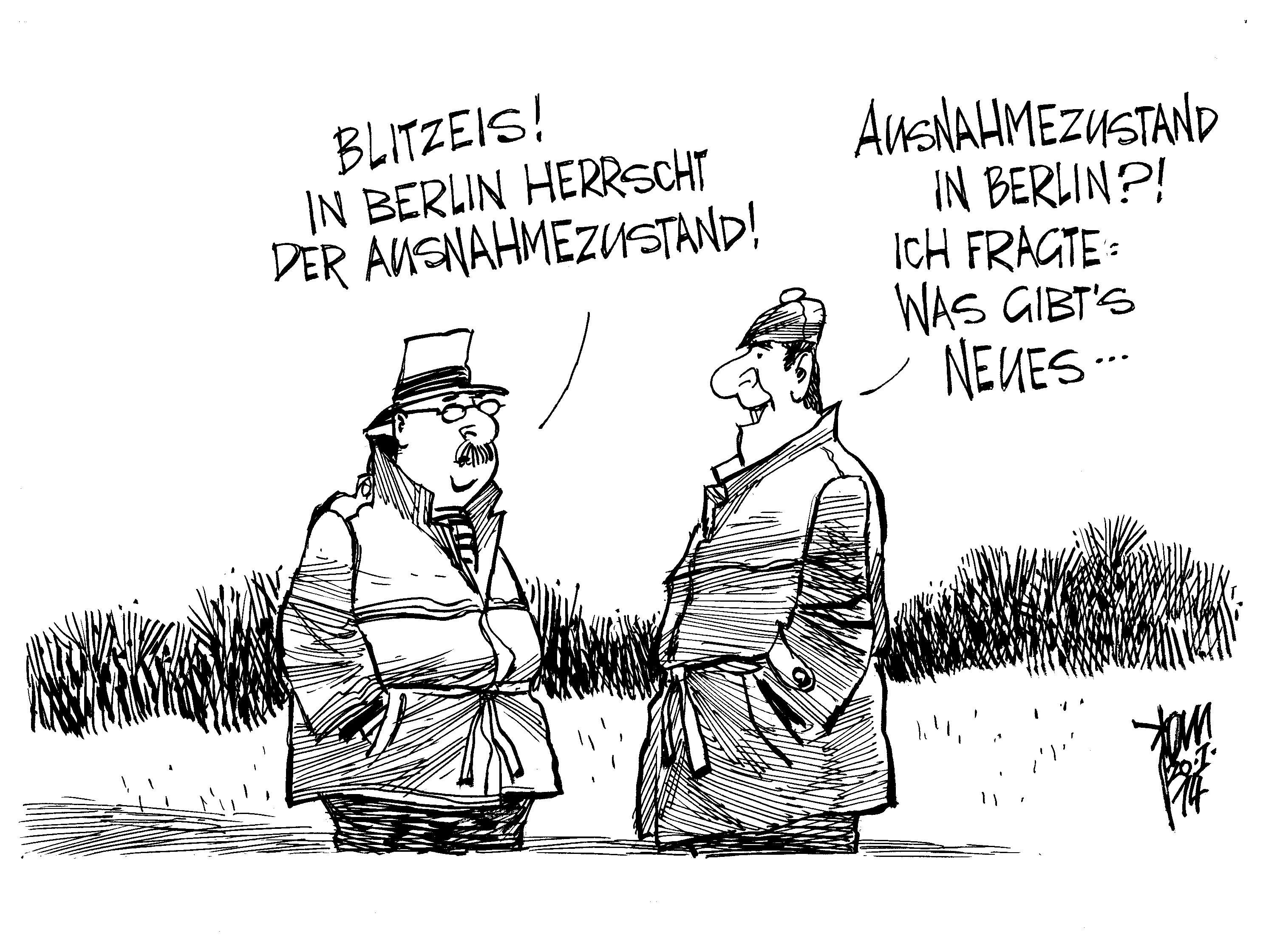 Berlin Karikatur