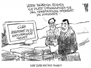 Griechenland übernimmt übernimmt von Litauen die EU-Ratspräsidentschaft. Samaras, Barroso.