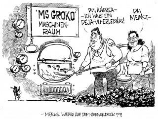 GroKo: Die Genossen der SPD sind wieder im Maschinenraum und heizen ein