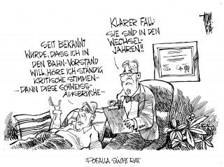 Pofalla und der Bahn-Vorstand: Die Debatte um die Karenzzeiten hält an. Auch der Bahn-Aufsichtsrat hat mit Pofalla ein Problem.