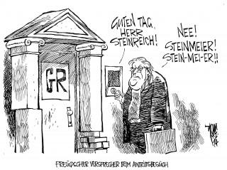 Steinmeiers Antittsbesuch in Griechenland. Euro-Krise, EU-Ratsvorsitz