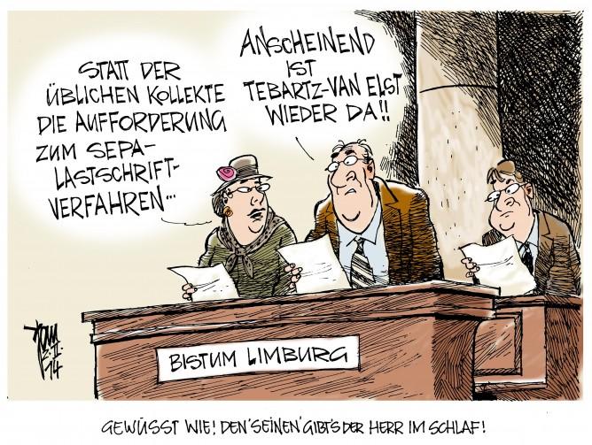 Protzbischof Tebartz- van Elst: in Limburg angekommen gibt Tebartz schon wieder Anweisungen im Bistum Limburg
