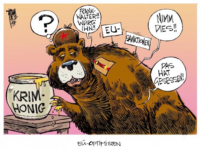 EU-Sanktionen auf Krim-Referendum: Die EU-Außenminister beraten über ihre schwarze Liste
