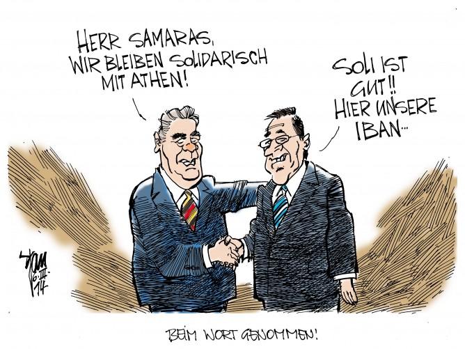 Gauck in Griechenland: Gauck sichert den Griechen Solidarität zu