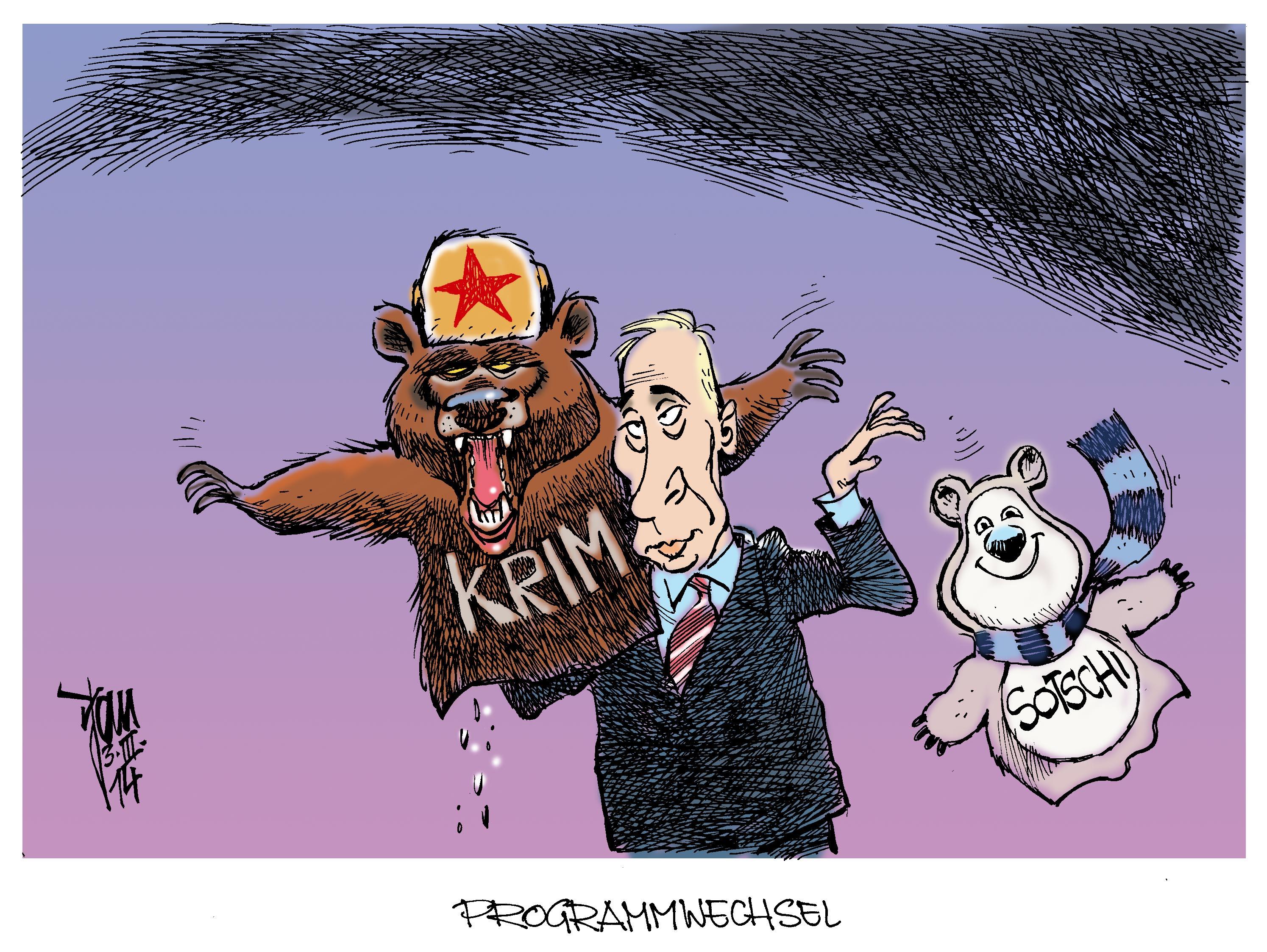 Aktuelle Karikaturen: Krim-Krise