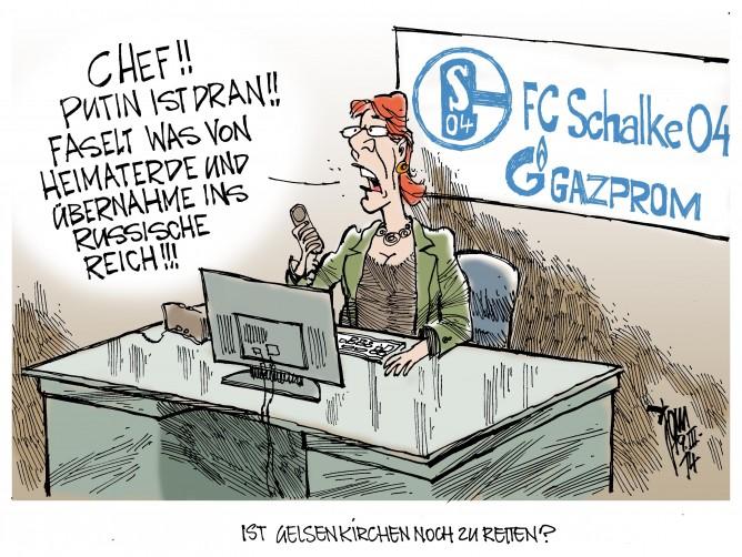 Krim- Krise, Putin, Schalke 04, Gazprom