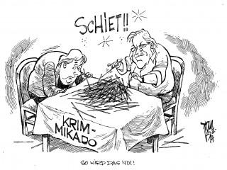 Krim-Krise,Merkel, Steinmeier
