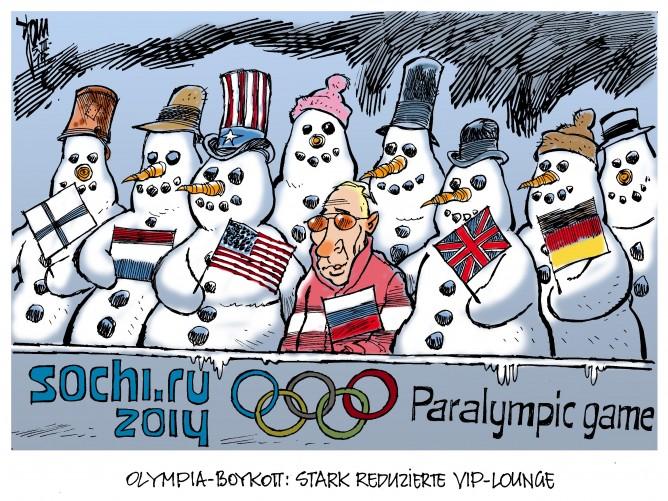 Olympia-Boykott: Einige Regierungen schicken wegen der Krim-Krise keine Vetreter zu den Paralympics in Sotschi