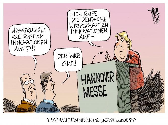 Hannover Messe: Angela Merkel ruft die deutsche Wirtschaft zu Innovationen auf