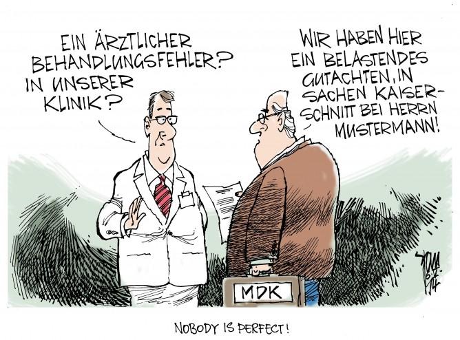 Ärztliche Behandlungsfehler,MDK, Medizinischer Dienst der Krankenkassen