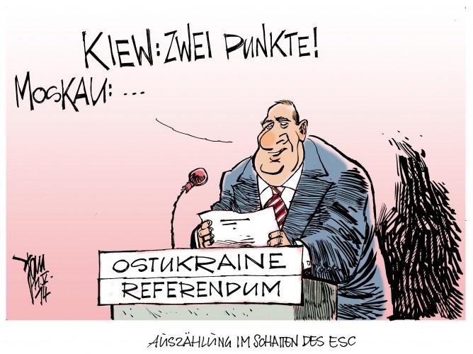 Referendum in der Ostukraine, Eurovision Song Contest, Conchita Wurst, ESC