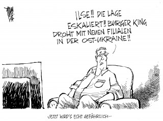 Ukraine-Konflikt , Ekel-Filialen von Burger King