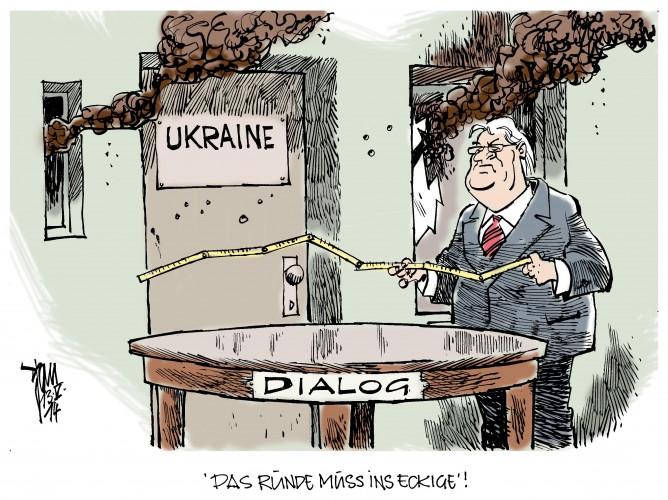 Ukraine-Krise: Steinmeier versucht in der Ukraine den Dialog anzukurbeln. Kiew, Odessa, Ost-Ukraine