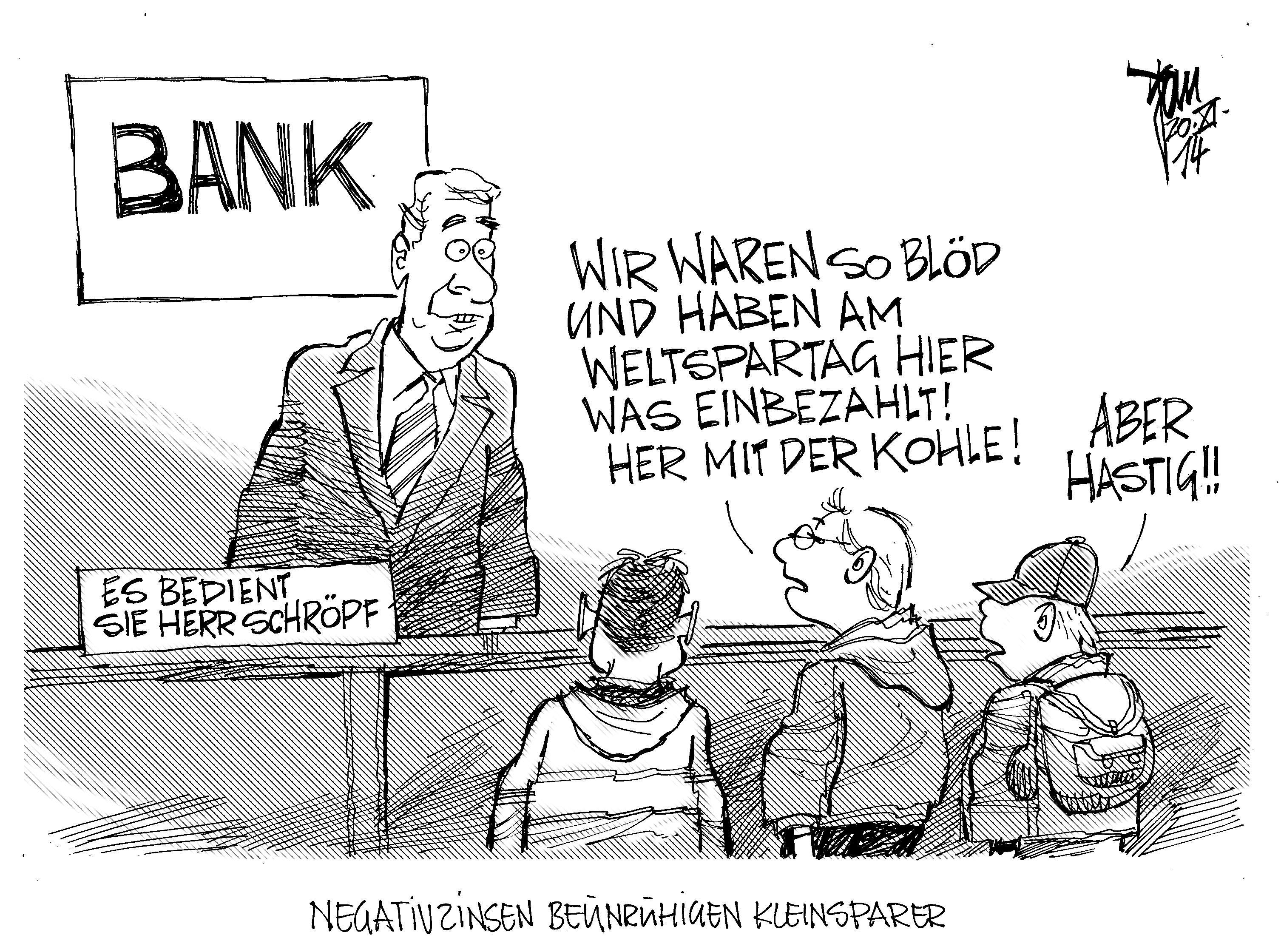 negativ zinsen deutschland