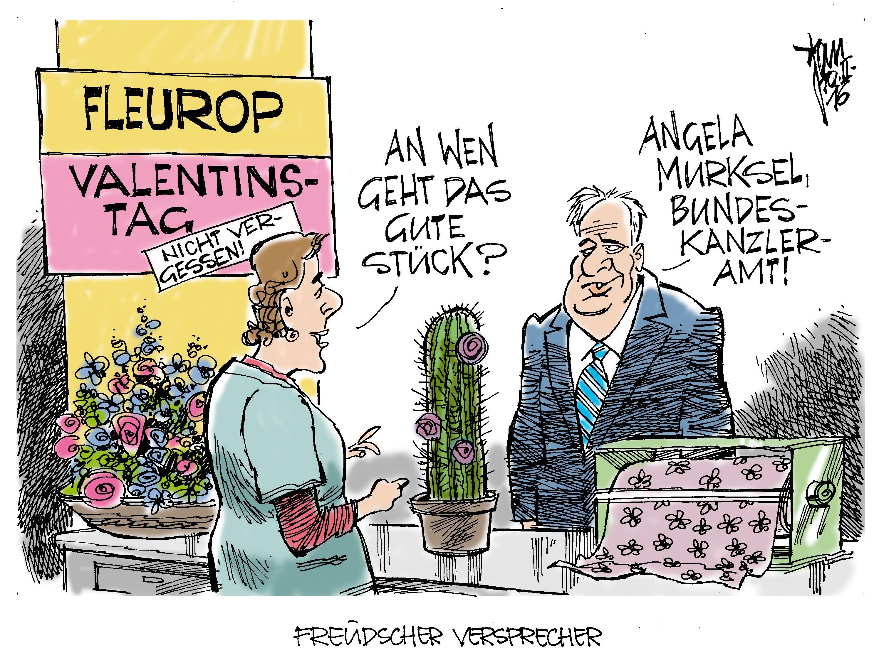 Freudscher Versprecher Archives Janson Karikatur
