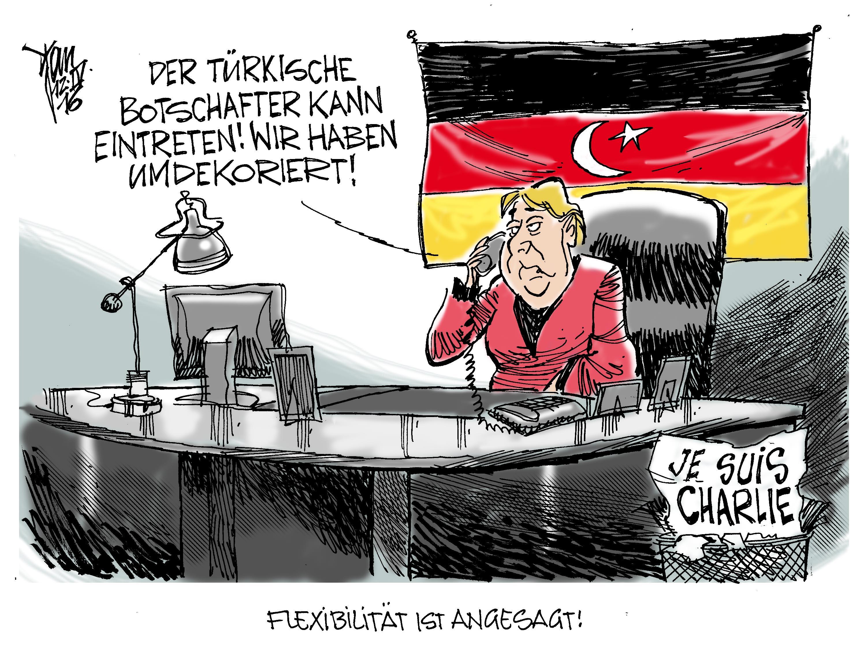 Böhmermann Karikatur