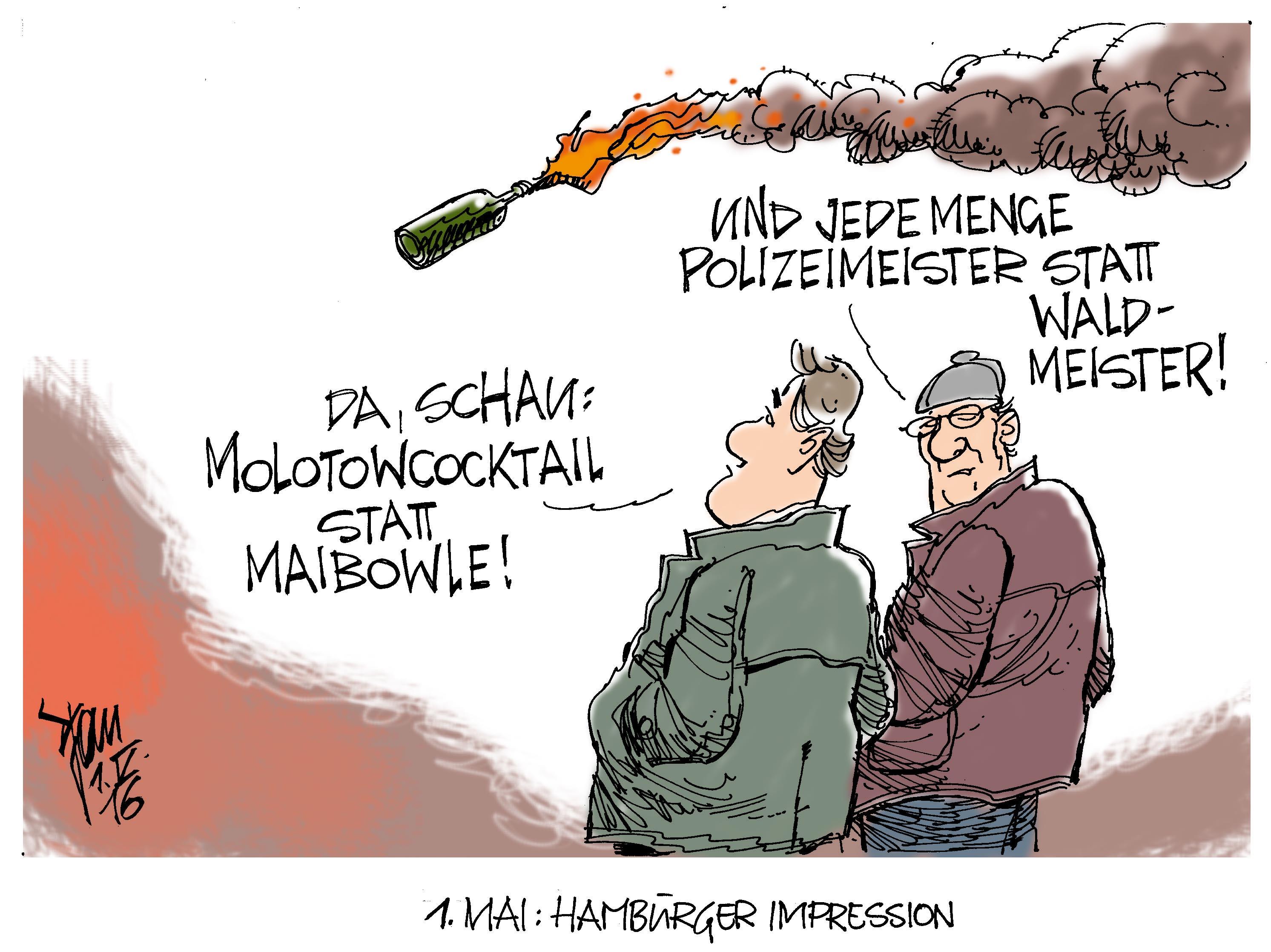 1. Mai Demonstrationen Archives - Janson-Karikatur